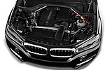 Car stock 2018 BMW X5 xDrive35d 5 Door SUV engine high angle detail view