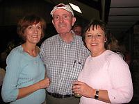 Arkansas Democrat-Gazette/CYD KING 4-20-07<br /><br />pasta 0429 nwprofiles1.jpg<br /> Bonnie McDade, 2007 Ozark Komen Race for the Cure honorary chairman John McDonnell and Joyce Reed.<br /><br />4-23-07