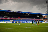 Saturday 25 January 2014<br /> Pictured: Swansea city players and managment on the St. Andrew's Pitch<br /> Re: Birmingham City v Swansea City FA Cup fourth round match at St. Andrew's Birimingham
