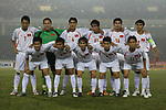 Players of Vietnam Team line up and pose for a photo prior to their AFF Suzuki Cup 2008 Final 2nd leg match between Vietnam and Thailand at My Dinh National Stadiumon 28 December 2008, in Hanoi, Vietnam. Photo by Stringer / Lagardere Sports