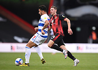 17th October 2020; Vitality Stadium, Bournemouth, Dorset, England; English Football League Championship Football, Bournemouth Athletic versus Queens Park Rangers; Dan Gosling of Bournemouth competes for the ball with Macauley Bonne of Queens Park Rangers