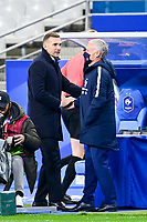24th March 2021; Stade De France, Saint-Denis, Paris, France. FIFA World Cup 2022 qualification football; France versus Ukraine;  Handsj=hake between Didier Deschamps - trainer (France) and Andrei Shevchenko - Manager (Ukraine)