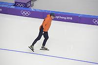 OLYMPIC GAMES: PYEONGCHANG: 17-02-2018, Gangneung Oval, Long Track, Training session, Jillert Anema (coach), ©photo Martin de Jong