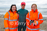 The three lifeguards on duty in Ballyheigue beach on Sunday, l to r: Erin Moss, Charlie and Julie O'Grady.