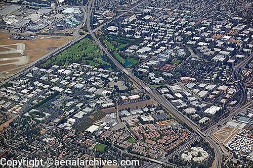 aerial photograph Mountain View, Sunnyvale, Santa Clara county, California