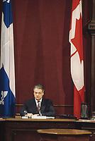 Quebec (Qc) CANADA - 1991 File photo  - - Michel Belanger during the Belanger - Campeau Commission at Quebec National Assembly red salon