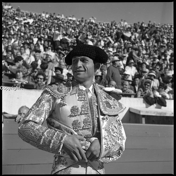 19 Septembre 1965. Vue du torero Curio Giron dans les arènes de Toulouse.