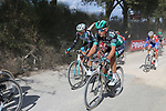 The peloton on sector 3 Radi during Strade Bianche 2019 running 184km from Siena to Siena, held over the white gravel roads of Tuscany, Italy. 9th March 2019.<br /> Picture: Eoin Clarke   Cyclefile<br /> <br /> <br /> All photos usage must carry mandatory copyright credit (© Cyclefile   Eoin Clarke)