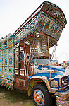 Pakistani Painted Truck, 1976 Bedford, Haider Ali and Jamil ud-Din 2002, Smithsonian Museum, National Mall, Washington DC