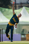 Sarel Erwee of South Africa bowls during Day 2 of Hong Kong Cricket World Sixes 2017 Cup Semi 1 match between  New Zealand Kiwis vs South Africa  at Kowloon Cricket Club on 29 October 2017, in Hong Kong, China. Photo by Yu Chun Christopher Wong / Power Sport Images