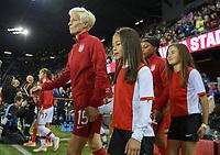 San Jose, CA - Sunday November 12, 2017: Megan Rapinoe during an International friendly match between the Women's National teams of the United States (USA) and Canada (CAN) at Avaya Stadium.