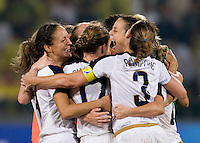 USWNT. The USWNT defeated Brazil, 1-0, to win the gold medal during the 2008 Beijing Olympics at Workers' Stadium in Beijing, China.