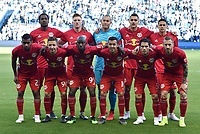 Kansas City, Kansas - Sunday April 14, 2019: Sporting Kansas City and the New York Red Bulls played to a 2-2 tie in a Major League Soccer (MLS) game at Children's Mercy Park.