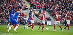 26.02.2020 SC Braga v Rangers: Rangers players appeal for the penalty kick