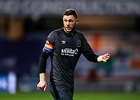 17th February 2021; The Kiyan Prince Foundation Stadium, London, England; English Football League Championship Football, Queen Park Rangers versus Brentford; Henrik Dalsgaard of Brentford wearing the captains armband in rainbow colours for support of LGBT people in sports
