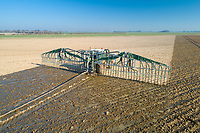 Using a dribble bar to apply digestate - Lincolnshire, February