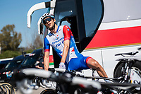 24th March 2021; Castelldefels, Catalonia, Spain; Volta Catalunya Cycling Tour stage 3 from Canal Olimpic de Catalunya to Vallter 2000; ANTOINE DUCHESNE of team GROUPAMA - FDJ