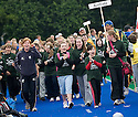 PUPILS FROM CORSTORPHINE PRIMARY TEAM UP WITH AUSTRALIA AS THEY TAKE PART IN THE OPENING CEREMONY OF THE TOUCH WORLD CUP YOUTH FESTIVAL AT PEFFERMILL.