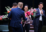 Jeremy Jordan, Kerry Washington, Steven Pasquale during the Broadway Opening Night Curtain Call for 'AMERICAN SON' at the Booth Theatre on November 4, 2018 in New York City.