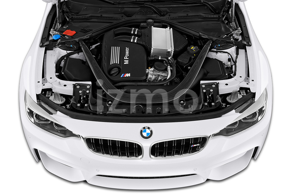 Car stock 2020 BMW M4 Base 2 Door Convertible engine high angle detail view