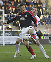 03/03/2007       Copyright Pic: James Stewart.File Name : sct_jspa12_falkirk_v_aberdeen.FALKIRK'S ALAN GOW HOLDS OFF SCOTT SEVERIN....James Stewart Photo Agency 19 Carronlea Drive, Falkirk. FK2 8DN      Vat Reg No. 607 6932 25.Office     : +44 (0)1324 570906     .Mobile   : +44 (0)7721 416997.Fax         : +44 (0)1324 570906.E-mail  :  jim@jspa.co.uk.If you require further information then contact Jim Stewart on any of the numbers above.........