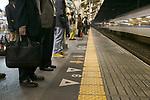 Train station, Tokyo, Honshu, Japan