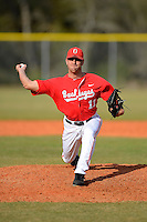 Ohio State Buckeyes pitcher David Fathalikhani #11 during a game against the South Dakota State Jackrabbits at North Charlotte Regional Park on February 23, 2013 in Port Charlotte, Florida.  Ohio State defeated South Dakota State 5-2.  (Mike Janes/Four Seam Images)