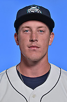 Asheville Tourists pitcher Sam Thoele (26) poses for a photo at Story Point Media on April 5, 2016 in Asheville, North Carolina. (Tony Farlow/Four Seam Images)
