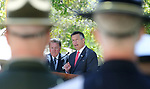 Nevada Gov. Brian Sandoval speaks at the 21st annual Nevada State Law Enforcement Officers Memorial ceremony in Carson City, Nev., on Thursday, May 3, 2018. <br /> Photo by Cathleen Allison/Nevada Momentum