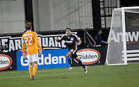 Arturo Alvarez celebrates after scoring in the 33rd minute. San Jose Earthquakes defeated Houston Dynamo 3-2 at Buck Shaw Stadium in Santa Clara, California on March 28th, 2009.