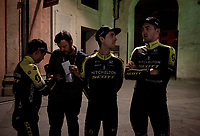 Team Mitchelton-Scott at the official team presentation of the 102nd Giro d'Italia 2019 at the Grande Partenza in Bologna<br /> <br /> ©kramon