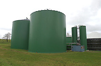 Each of the two digesters holds 4,000 tonnes of slurry. Holsworthy bio gas plant, Devon.