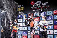 podium:<br /> <br /> 1st place - Jolien Dhoore (BEL/Boels-Dolmans)<br /> 2nd place - Lotte Kopecky (BEL/Lotto-Soudal)<br /> 3th place - Lisa Brennauer (GER/Ceratizit-WNT)<br /> <br /> 9th Gent-Wevelgem in Flanders Fields 2020<br /> Elite Womens Race (1.WWT)<br /> <br /> One Day Race from Ypres (Ieper) to Wevelgem 141km<br /> <br /> ©kramon