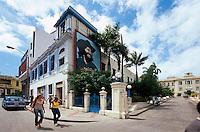Cuba, Bild von Che Guevara an Krankenhaus  in Santiago de Cuba