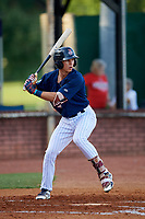 Elizabethton Twins second baseman Michael Helman (13) at bat during a game against the Bristol Pirates on July 28, 2018 at Joe O'Brien Field in Elizabethton, Tennessee.  Elizabethton defeated Bristol 5-0.  (Mike Janes/Four Seam Images)