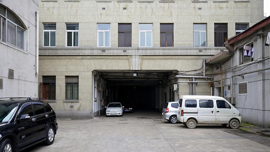 Rear Yard And Loading Bay, Asiatic Petroleum Building, Hankou (Hankow).