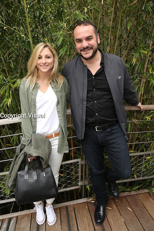 Francois-Xavier Demaison and girlfriend Anais Tihay seen at 'Le Village de Roland Garros' during Roland Garros tennis open 2016 on may 26 2016.