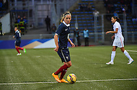 Lorient, France. - Sunday, February 8, 2015:  Camille Abily (10) of France. France defeated the USWNT 2-0 during an international friendly at the Stade du Moustoir.