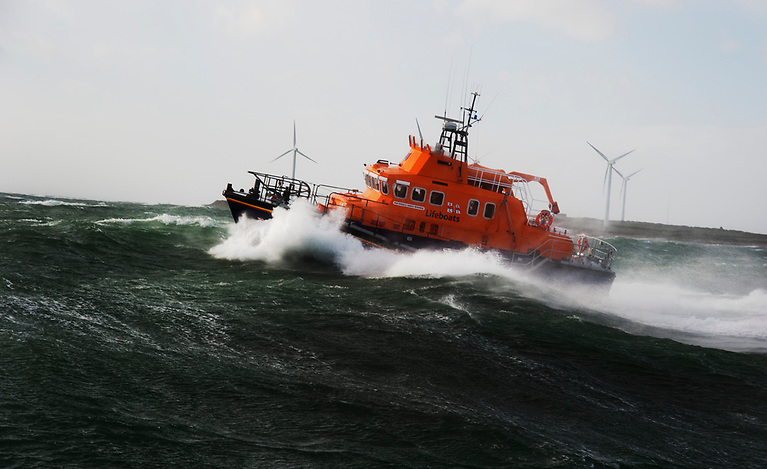 Rosslare Harbour RNLI carried out a rescue on 16 October 2017 during 'Storm Ophelia' that saw three lives saved in hurricane conditions