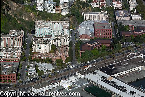 aerial photograph Embarcadero North Beach San Francisco, California