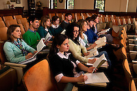 Belmont Abbey College Honors Students.