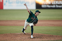 Greensboro Grasshoppers relief pitcher Grant Ford (41) in action against the Hickory Crawdads at First National Bank Field on May 6, 2021 in Greensboro, North Carolina. (Brian Westerholt/Four Seam Images)