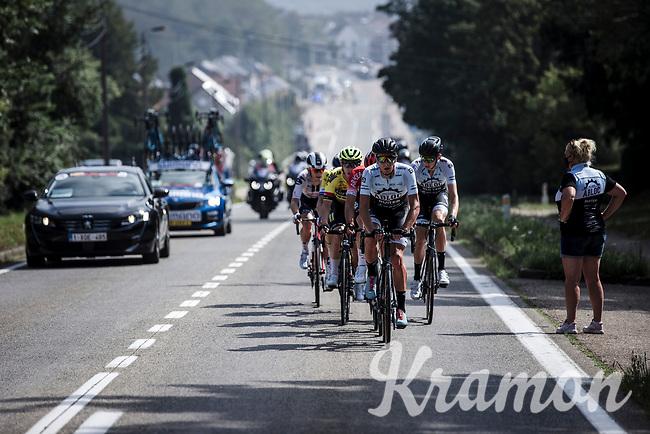 Team A Bloc CT riders in the early breakaway group. <br /> <br /> Dwars Door Het Hageland 2020<br /> One Day Race: Aarschot – Diest 180km (UCI 1.1)<br /> Bingoal Cycling Cup 2020