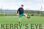 Stephen McCarthy Killarney Celtic practicing his Keepy Upeey's for the clubs daily skills challenge