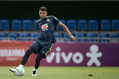 10th November 2020; Granja Comary, Teresopolis, Rio de Janeiro, Brazil; Qatar 2022 qualifiers; Thiago Silva of Brazil during training session in Granja Comary