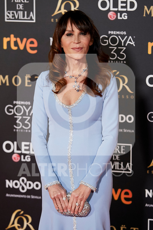 Antonia San Juan attends to 33rd Goya Awards at Fibes - Conference and Exhibition  in Seville, Spain. February 02, 2019. (ALTERPHOTOS/A. Perez Meca)