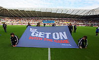 Saturday, 20 October 2012<br /> Pictured:<br /> Re: Barclays Premier League, Swansea City FC v Wigan Athletic at the Liberty Stadium, south Wales.