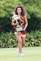 February 21, 2021: Naomi OSAKA of Japan photo call at Government House as the women's champion of the 2021 Australian Open, in Melbourne, Australia. Photo Sydney Low.