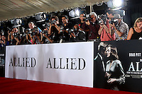 """LOS ANGELES - NOV 9:  Event Photographers at the """"Allied"""" Fan Screening at Village Theater on November 9, 2016 in Westwood, CA"""