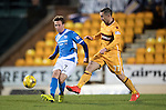 St Johnstone v Motherwell…17.12.16     McDiarmid Park    SPFL<br />Chris Millar and Scott McDonald<br />Picture by Graeme Hart.<br />Copyright Perthshire Picture Agency<br />Tel: 01738 623350  Mobile: 07990 594431